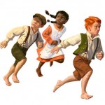 Children running image-make sense of dreams of being chased from a Christian perspective