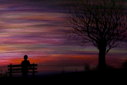 twilight-park-bench-silhouette 430